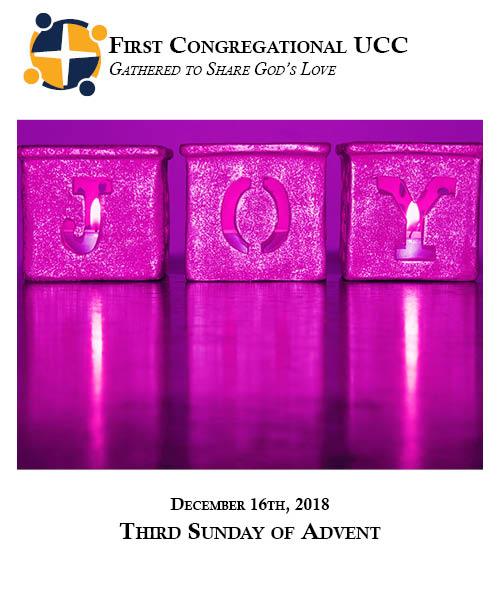 12.16.18 Third Sunday of Advent
