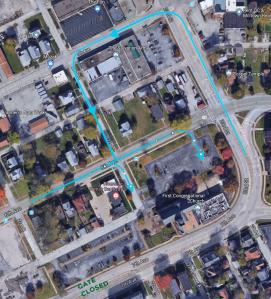 parking lot map satelite